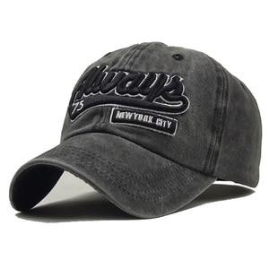 Image 2 - 고래 패턴으로 새로운 씻어 면화 야구 모자는 남성 여성을위한 수 놓은 편지 아빠 모자를 뾰족 해졌다 casquette gorra hombre bone