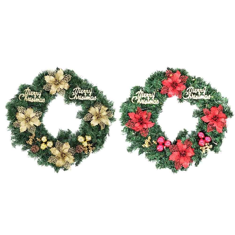 40cm Bonita Elegante Pendurado Grinalda Do Natal Guirlanda Cone Bola Enfeites de Natal Janela Decoração Da Porta Pendurado Adereços Fundo