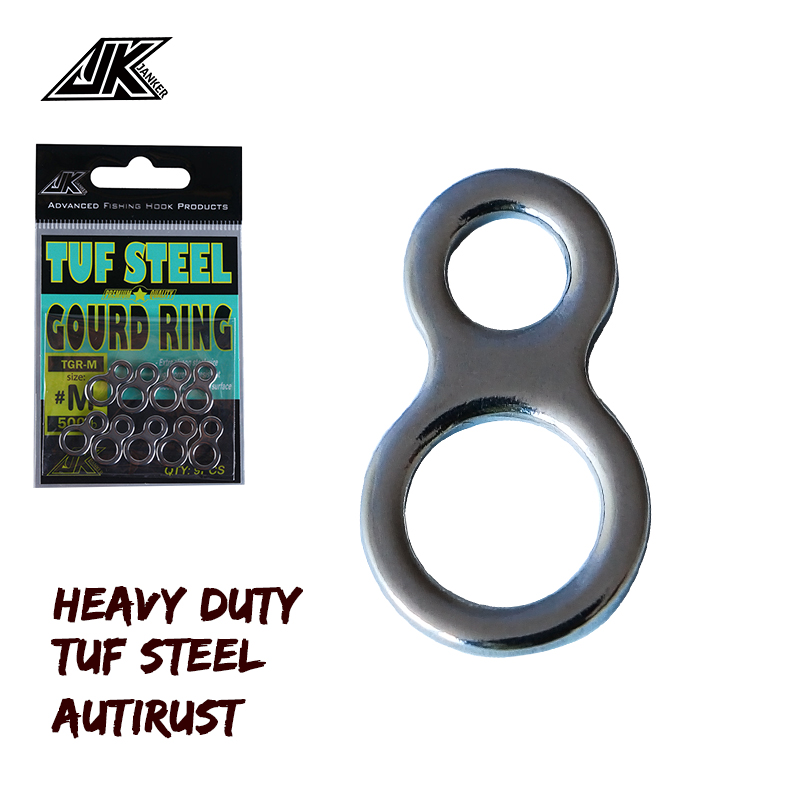 JK 2 Pack Heavy Duty Fishing Double 8 Solid Ring Swivel Connector For Trolling Jigs Hook Saltwater Fishing !!!!!!!!!!!!!!!!!!!!!
