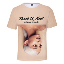 Ariana Grande Mens Summer Designer Tshirts Crew Neck 3D Print Homme Clothing Couple Female Womens Casual Apparel