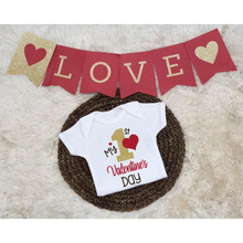 My First Valentine Baby Outfits Infant Baby Boys Girl Valent