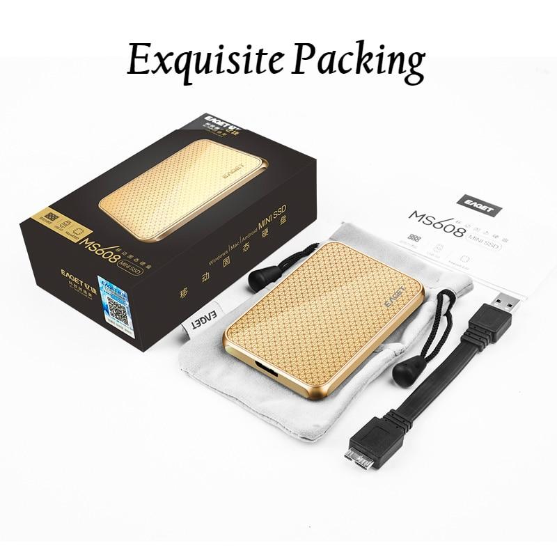 Eaget USB 3,0 внешний SSD 1 ТБ 512GB 256GB 128GB твердотельный накопитель портативный SSD мобильный жесткий диск высокоскоростной жесткий диск MS608