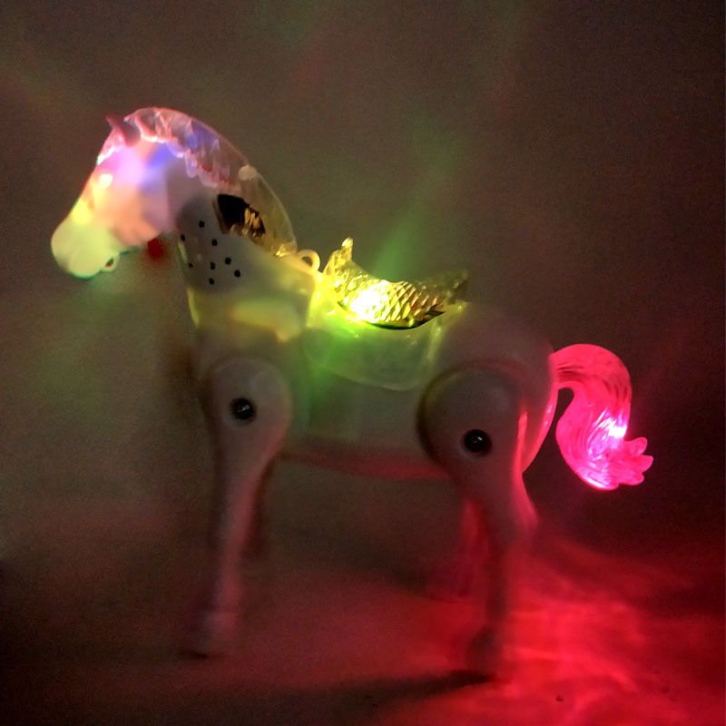 Shining Music My Little Electric Universal Horse Music Carriage Cartoon Animal CHILDREN'S Electric Toys Stall Hot Selling