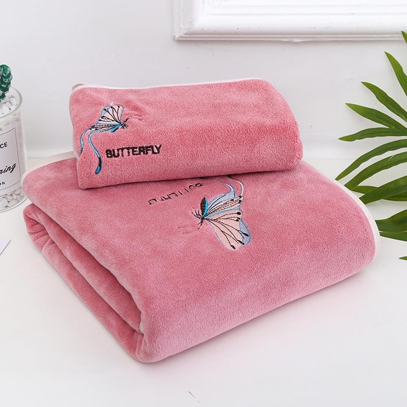 16 Colors Coral Fleece Absorbent Hair Swimming Face Hand Bath  Microfibre  Bathroom Towels Microfiber beach  Towel Sets