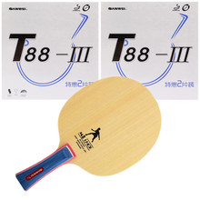 Racket Rubbers Table-Tennis-Blade Ping-Pong-Bat SANWEI Training--Beginners M8 with T88-3