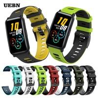 UEBN EasyFit Sport cinturino da polso in Silicone Correa per Huawei Honor Watch ES cinturino SmartWatch per cinturini Honor ES