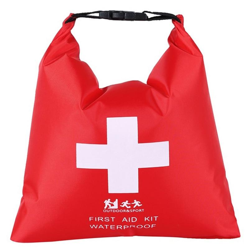 1.2л водонепроницаемый аптечка сумка портативный аварийный набор чехол для наружного лагеря путешествия экстренная медицинская помощь