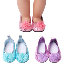 18 inch Girls doll shoes Shiny princess dress shoes floral shoes American newborn shoe Baby toys fit 43 cm baby dolls s153 18 inch girls doll shoes winter woolen slippers casual shoe american newborn accessories baby toys fit 43 cm baby dolls s129