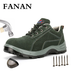 FANAN Men Indestructible Steel Toe Shoes Anti-smashing Puncture-Proof Boots Outdoor Non-slip Safety New Men Boots Free Shipping