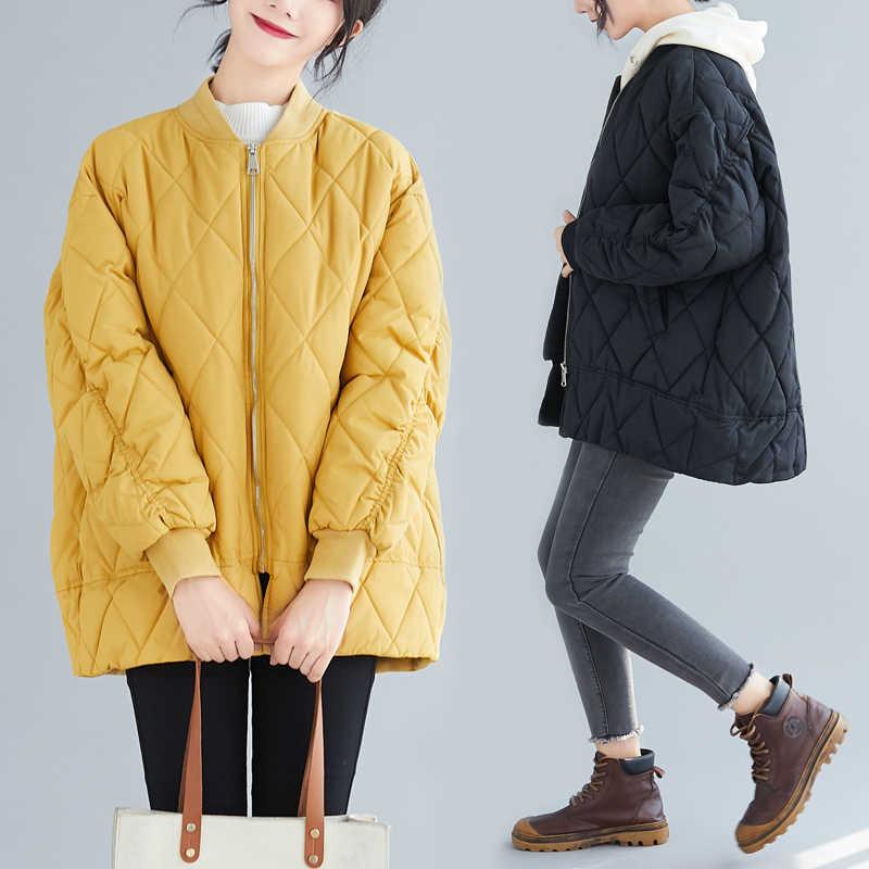 2019 新冬の綿の服韓国人女性の緩い大サイズパーカー女子ショートジャケット女性秋冬コート xa292