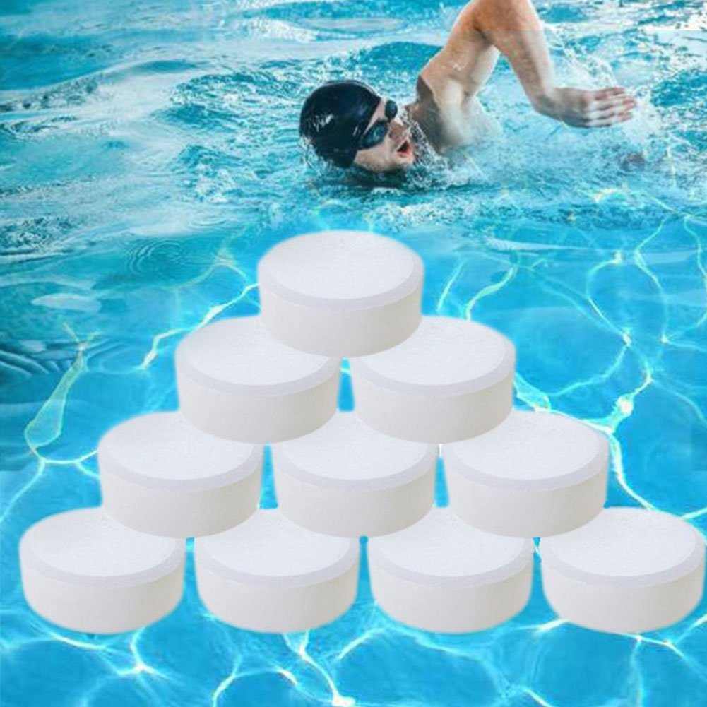 50PCS Clarifier Outdoor Water Cleaning Effervescent Non Toxic Practical Algaecide Sterilization Chlorine Tablets Swimming Pool