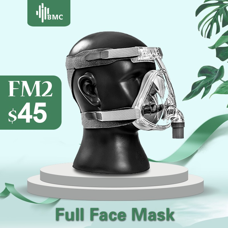BMC FM2 Full Face Mask 2018 Fashion Type For CPAP BIPAP Machine Size S/M/L Have Special Effects For Anti Snoring And Sleep Aid