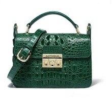 цена на gete crocodile leather  Women bag cross-body bag fashion handbag, one shoulder bag women small square flap