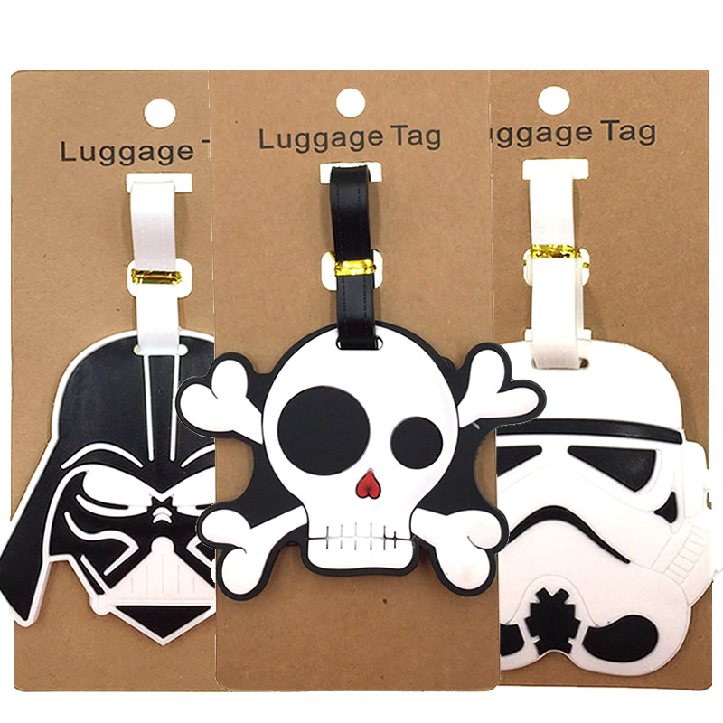 Cartoon Luggage Tags Portable Silica Gel Suitcase ID Addres Holder Baggage Boarding Label Women Travel Accessories