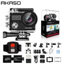"AKASO אמיץ 4 פעולה מצלמה Ultra HD 4K WiFi 2.0 ""170D 20MP מתחת למים עמיד למים מצלמת קסדת מצלמה ספורט מצלמת Selfie מקל מתנה"