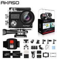 "AKASO Brave 4 Cámara de Acción Ultra HD 4K WiFi 2,0 ""170D 20MP impermeable casco Cámara deporte Cam Selfie stick regalo"