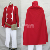 Game Final Fantasy III Red Mage Cospaly Costume Fashion Red Combat Uniform Suit Unisex Role Play Clothing Custom Make Any Size