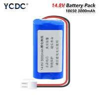 14.8 V 3000mAh 18650 Batterie Lithium Pack 68.4x36.9x36.9mm (4 pièces 3000mAh Batteries Li-ion rechargeables) + fiche 5557-2Pin