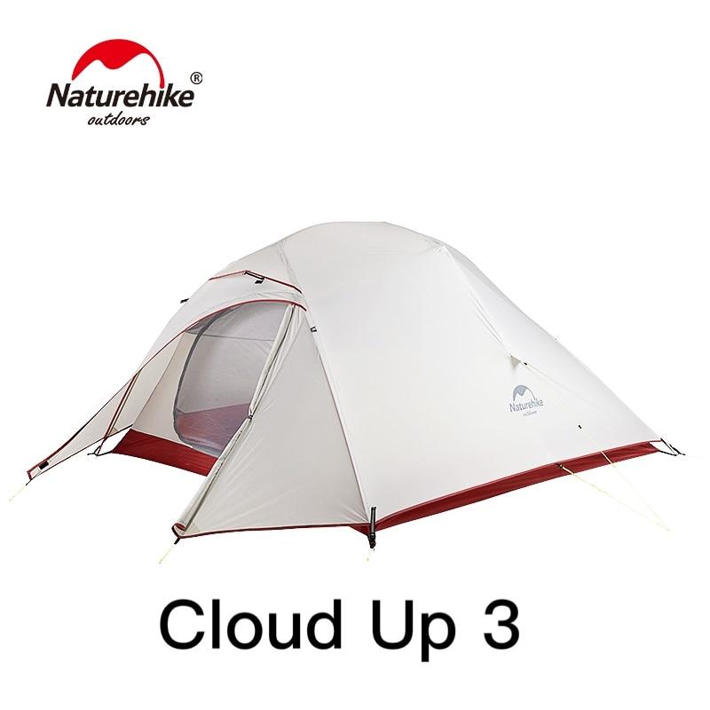 Naturehike CloudUp 1 2 3 osoba Ultralight Camping namiot wodoodporny namiot turystyczny 20D Nylon namiot na wędrówki z plecakiem lepsza wentylacja