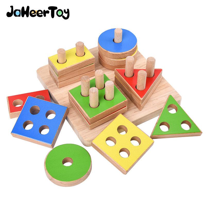 JaheerToy Baby  Math Montessori Educational Toys For Children Color Classification Wooden Gifts Kids Boys