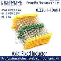 Inductores de anillo de código de Color fijo Axial, Radios de inducción DIP, Radio de TV, inducción electromagnética, 0410, 1/2W, 0,5 W, 560UH, 560 UH, 561K