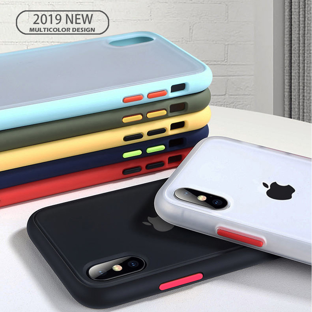 AUH Transparent Anti-shock Frame Silicone Case For IPhone X XS XR XS Max 11 11 Pro Max 8 7 6 6S Plus Protection Back Cover