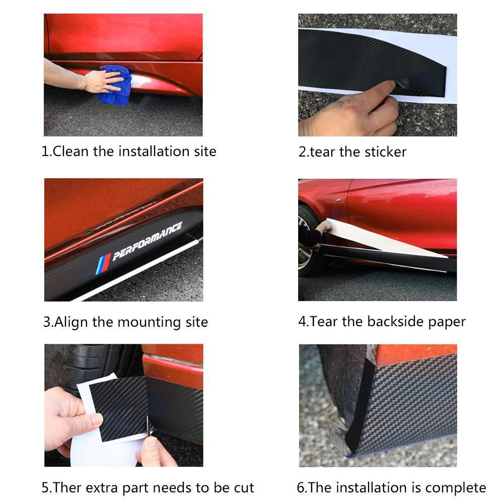 Covers Car Carbon Fiber Sticker Door Sill Decals 215cm Vinyl Durable Practical Replacement in Car Stickers from Automobiles Motorcycles