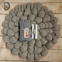 Don&Judy 100% Wool Blanket with Matched Stretch Knit Wrap and Headband Soft Newborn Baskets Filler Newborn Photography Props