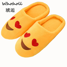 Shoes Women Slippers Soft Velvet Indoor Floor Expression Sneakers Cute Emoji Home Shoe Soft Bottom Winter Warm Shoes For Bedroom цены онлайн
