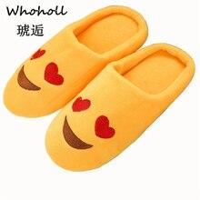 купить Shoes Women Slippers Soft Velvet Indoor Floor Expression Sneakers Cute Emoji Home Shoe Soft Bottom Winter Warm Shoes For Bedroom дешево