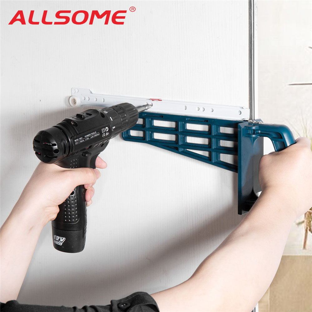 ALLSOME Set-Mounting-Tool Cupboard Hardware Cabinet-Furniture Install-Guide Jig Drawer