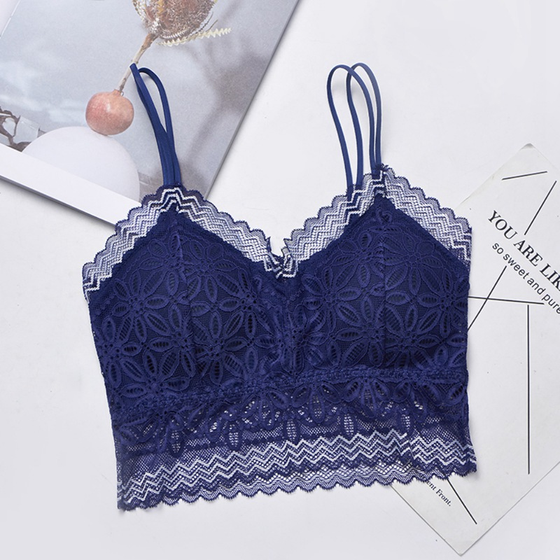 2019 Woman Sexy Bra Casual Lace Embroidered Tube Top Female Sexy Bra Tops X