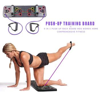 9 in 1 Push Up Rack Board  Body Building Fitness Exercise Tools Men Women Push-up Stands Body Building Training Gym Exercise 2