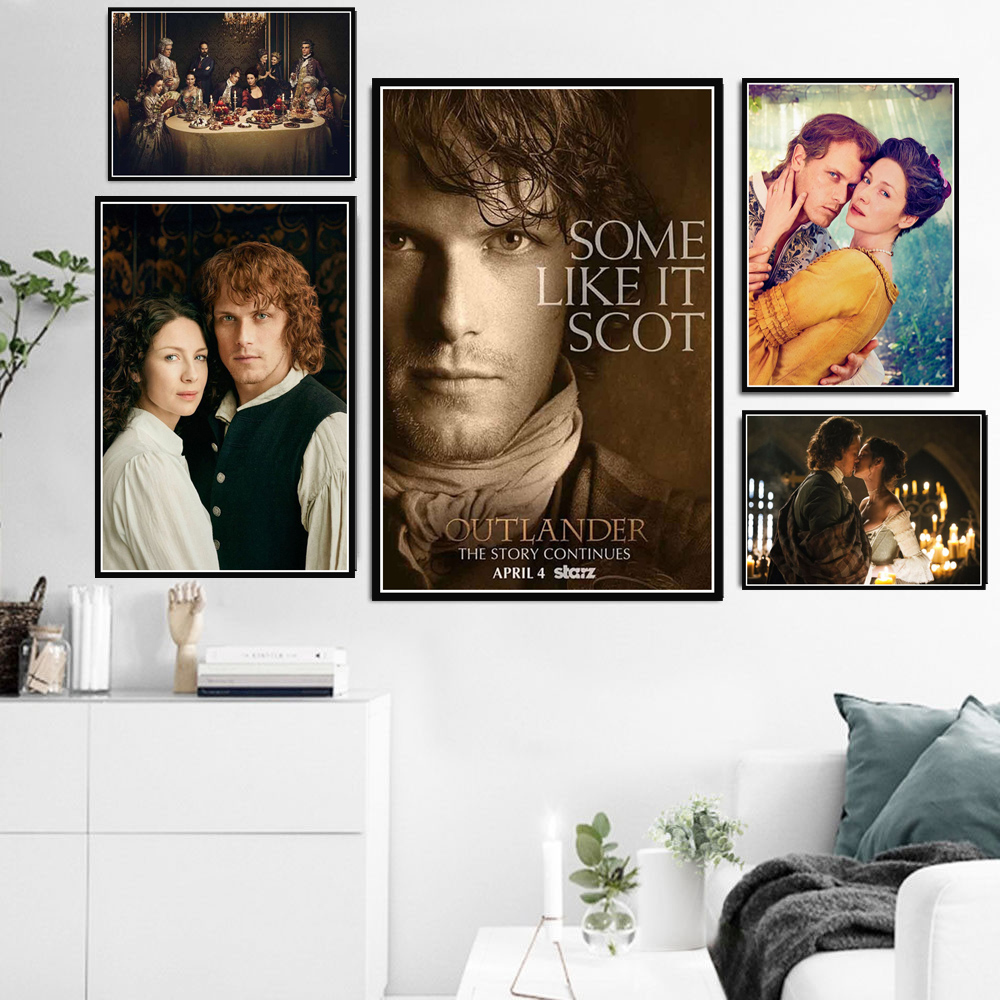 New Outlander TV Series Show Movie Character Poster And Prints Canvas Oil Painting Art Wall Pictures For Living Room Home Decor