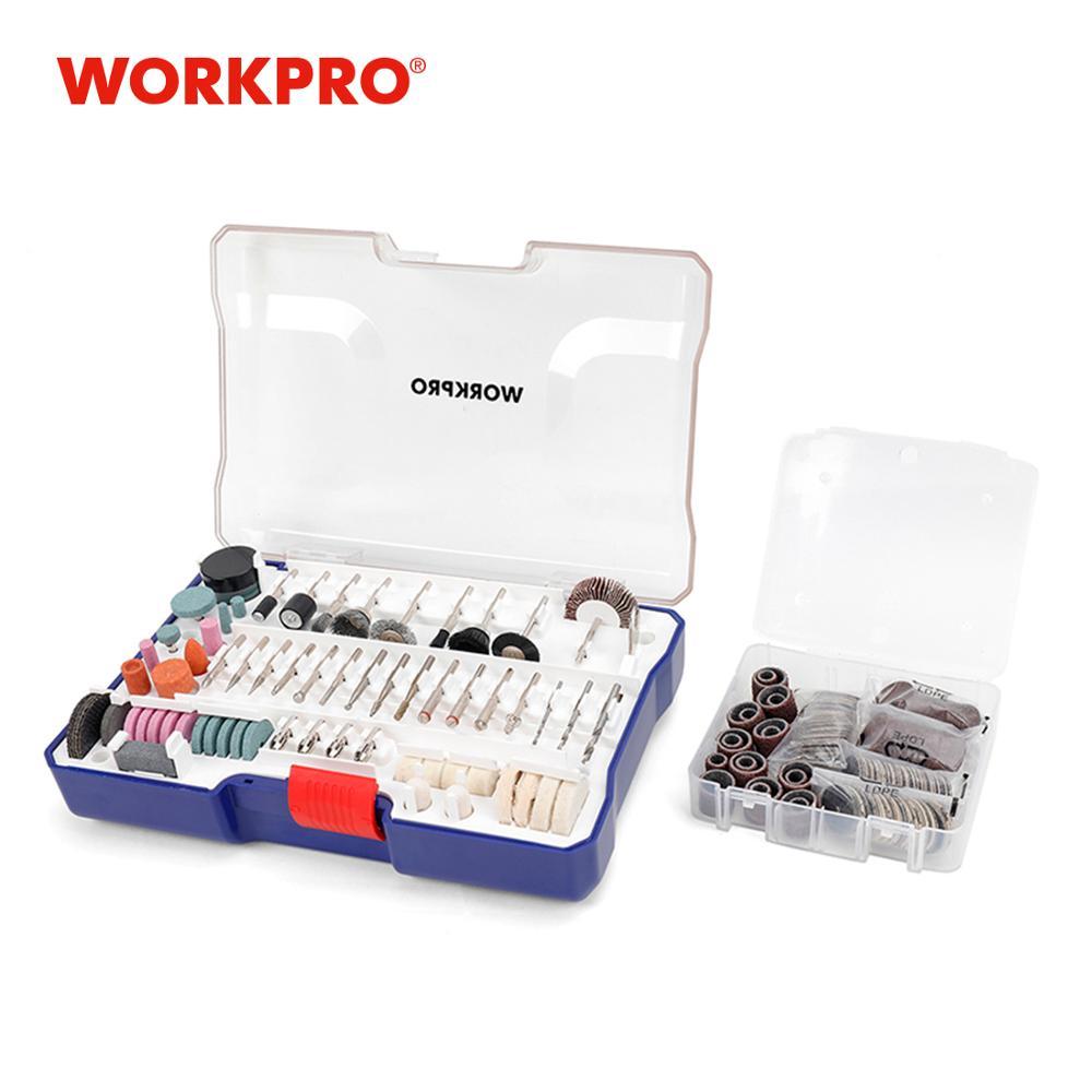 WORKPRO 295PC Juego de accesorios para herramientas rotativas Juego de brocas de lijado abrasivo oscilante Kits de herramientas Ruedas de diamante