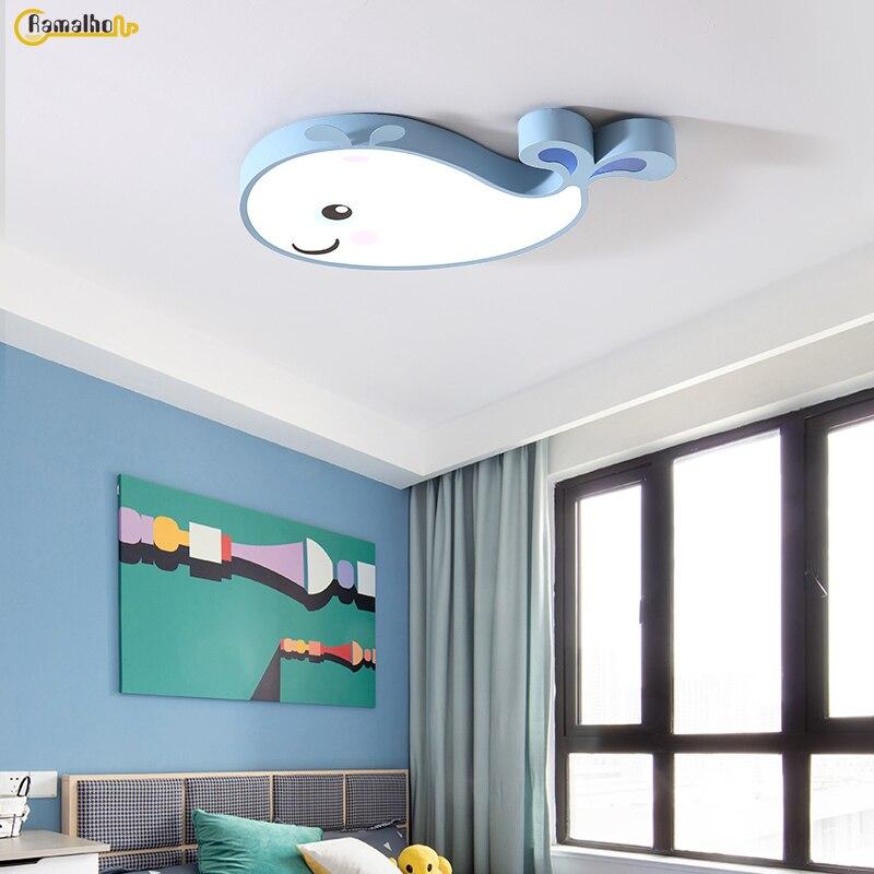 Детская лампа с Китом для девочек, лампа для спальни, кухонный светильник, модный мультяшный светильник, светильник для прохода