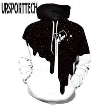 URSPORTTECH Hot Fashion Casual Men Women 3D Sweatshirts Print Milk Space Galaxy Hooded Hoodies Unisex Tops Wholesale Plus Size