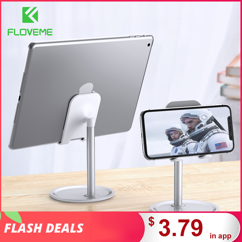 FLOVEME Universal Tablet Phone Holder Desk For iPhone Desktop Tablet Stand For Cell Phone Table Holder Mobile Phone Stand Mount|Phone Holders & Stands|   - AliExpress