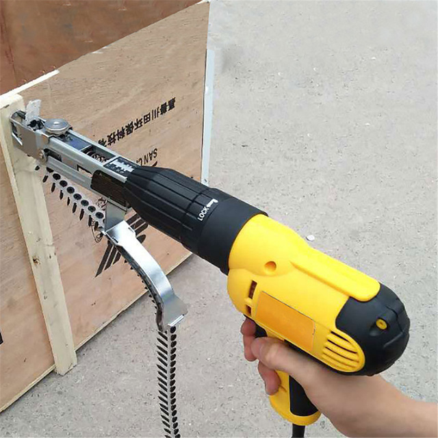 1PC Automatic New Automatic Chain Nail Gun Adapter Screw Gun for Electric Drill Woodworking Tool Cordless Power Drill Attachment|Nail Guns|   - AliExpress