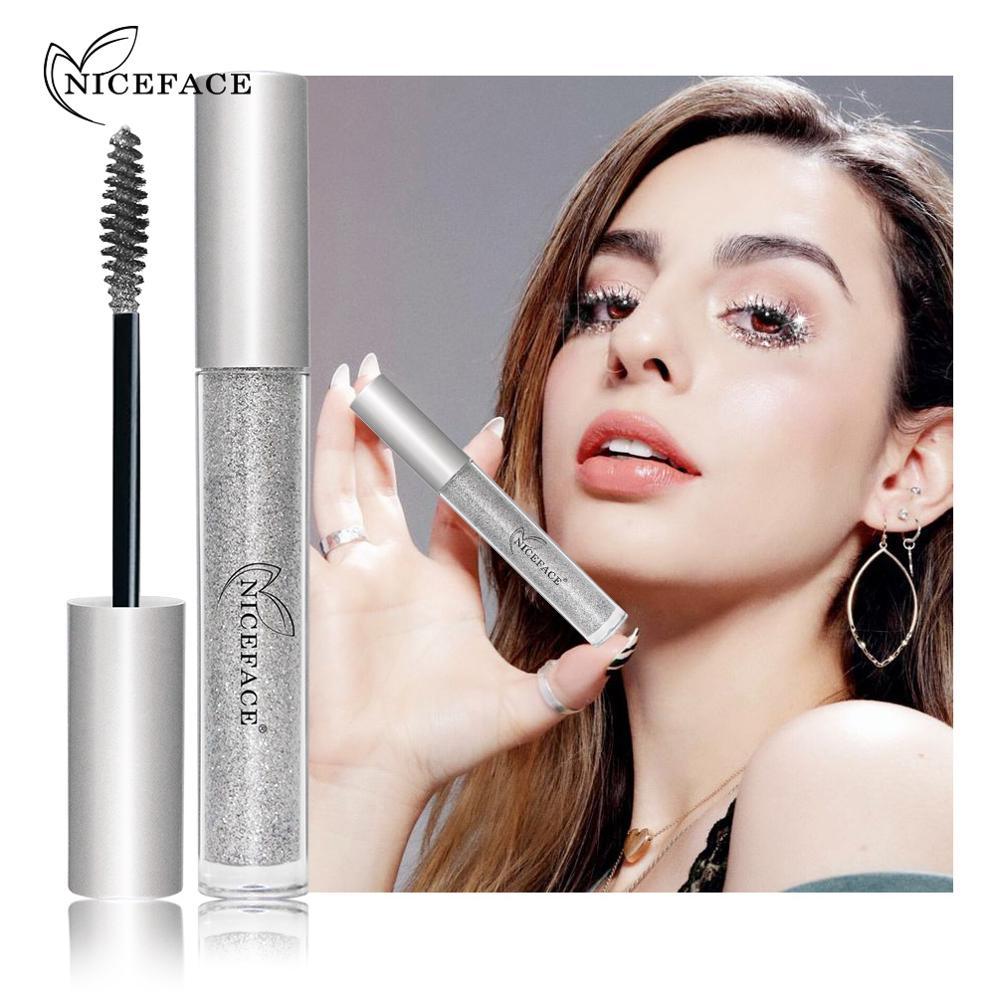 Professional Sparkling Diamond Shiny Charm Mascara Volume Waterproof Lash Extension Makeup Silk Graft Growth Fluid Rimel For Eye