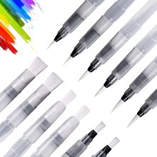 Wielokrotnego napełniania pędzel do akwareli zestaw 1 3 6 sztuk akwarela szczotki długopisy do malowania do rysowania artystycznego dostaw tanie tanio CN (pochodzenie) NYLON Z tworzywa sztucznego Water Color Brush 6 lat water brush paint brushes Self Moistening brush set