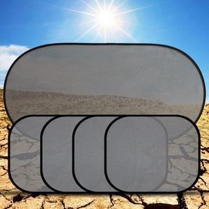 Image 5 - 黒の車の窓サンシェード太陽シェーディングボードカーシェードサンブロックブロック太陽保護 5 ピース/セット