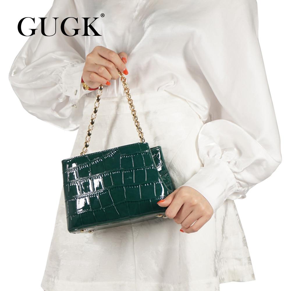 GUGK Dress Handbags Woman Satchels Elegant Fashion High Quality Single Shoulder Bags Ladies Chain Strap Crossbody Bags GB124