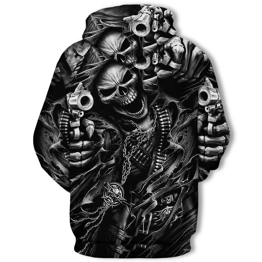 2019 ใหม่ร้อน unisex เสื้อกันหนาว 3d-printed Flame Skull hoodie พ็อกเก็ตสีเทาเสื้อผู้ชาย Casual hoodie ผู้ผลิตโปรโมชั่น S-4XL