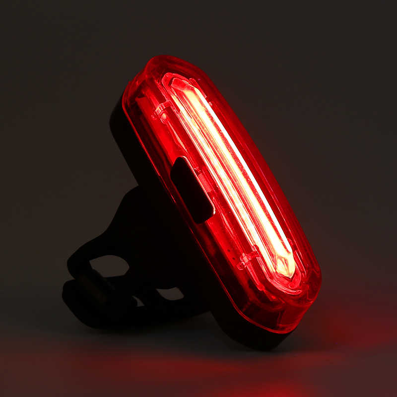 Bike Rear Tail Light LED USB Rechargeable Bicycle Helmet Backpack Sport Lamp C#