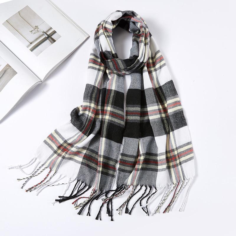 Men Plaid Check Warm Unisex Small Size 180 30cm Brand Designer Winter Cashmere Scarves Men Scarf