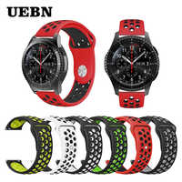 UEBN 22mm 20mm Silicone Replacement Breathable Watch Band For Garmin Vivoactive 3 Samsung Gear S2 S3 Sport strap watchbands