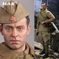 For Fans Collection 1/6 WWII USSR Sniper VASILY Action Figure Model Normal/ Damaged Version for Fans Holiday Gifts R80139