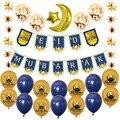 1 комплект ИД Мубарак фольга шары баннеры счастливый Рамадан ИД латексные шары исламские новогодние Вечерние Декорации мусульманский фест...