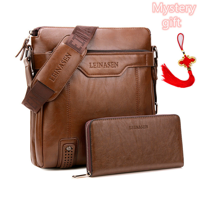 Arrival Fashion Business Leather Men Messenger Bags Briefcase For Document Handbag Satchel Portfolio Brief Case Bag For Phone